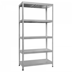 Метален стелаж модел Memo-Hard 180x60x40 см, до 90 кг на рафт - цинк - Мебели от метал