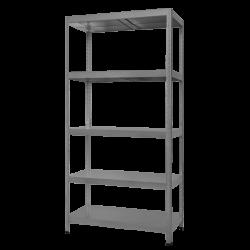Метален стелаж модел Memo-Hard 180x90x40 см, до 90 кг на рафт - сив - Мебели от метал