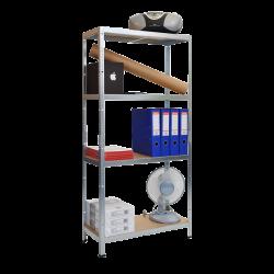 Метален стелаж модел Memo-Lira 138x70x30 см, до 50 кг на рафт - цинк - Мебели от метал