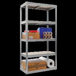 Метален стелаж модел Memo-Star 180x90x45 см, до 350 на рафт - цинк - Мебели от метал