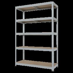 Метален стелаж модел Memo- Star Plus 180x120x45 см, до 250 кг на рафт - цинк - Мебели от метал