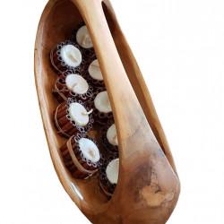 Купа с дръжка EX Home модел Oval, тиково дърво - Кухненски аксесоари и прибори