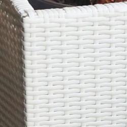 Кашпа EX Home модел Srt Ivori, синтетичен ратан - Саксии, Кашпи