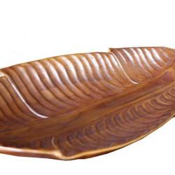 Плато EX Home модел Tik Leaf, тиково дърво - Кухненски аксесоари и прибори