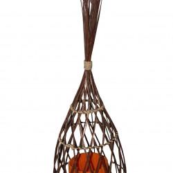 Лампа EX Home модел Oval Ratan Mal, ратан, метал, текстил - EX Home