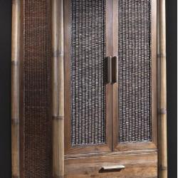 Гардероб EX Home модел Tropikana, махагон, бамбук -