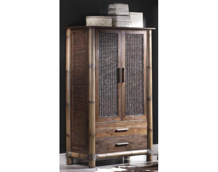 Гардероб EX Home модел Tropikana, махагон, бамбук